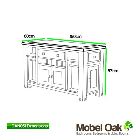 oak kitchen island with black granite top danube dan051