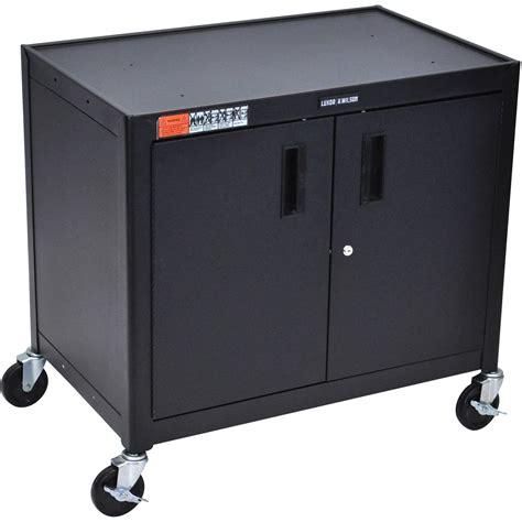 Mobile Cabinet luxor av30xlc steel mobile cabinet cart av30xlc b h photo