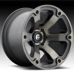 Custom Made Truck Wheels Fuel Beast D564 Matte Black Machined W Tint Custom