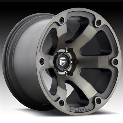 truck wheels fuel beast d564 matte black machined w tint custom