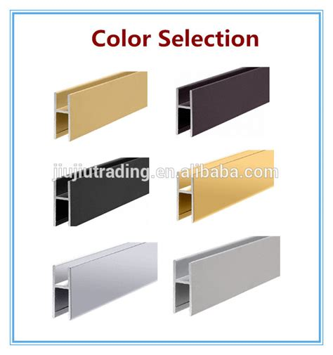 Aluminum H Section by Market Feedback 6063 Extruded Aluminum H Channel