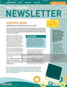 typography newsletter company newsletter design template vector getty images