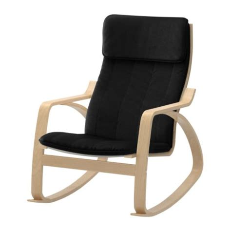po 196 ng rocking chair alme black birch veneer ikea
