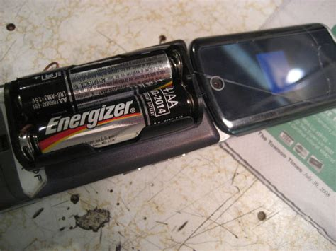 aa motoralap aa battery powered cell phone 6 steps with pictures