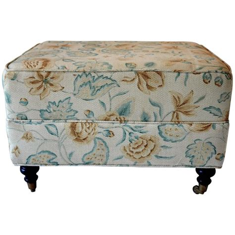 floral ottoman floral waverly ottoman for sale at 1stdibs