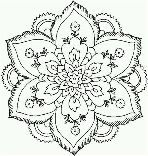 coloring pages intricate flowers lotus mandala coloring coloring mandala
