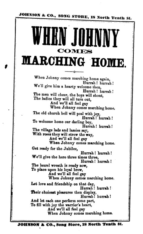when johnny comes marching home johnson co phila n