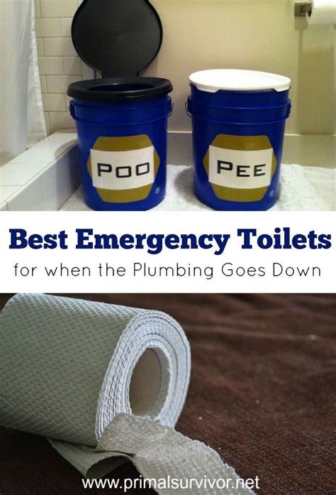 emergency toilet options    plumbing