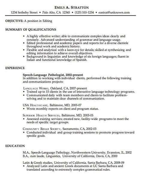 Academic Support Sle Resume by Chronological Resume Sle For College Student 28 Images Resume Exle School Counselor