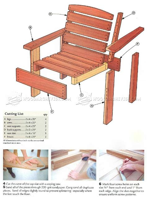 deck chair plans woodarchivist