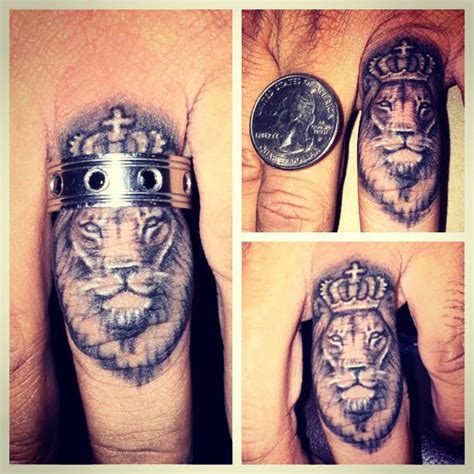 lion tattoo on finger designs ideas trends 2015 2016