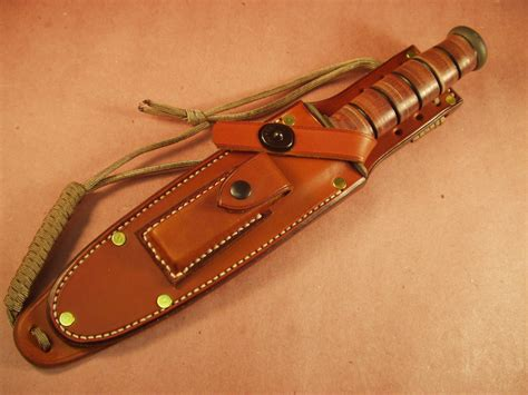 Handmade Leather Sheath - high adventure outfitters us ka bar custom made leather