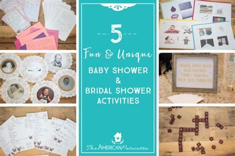 Baby Shower And Activities by And Unique Baby Shower And Bridal Shower Activities