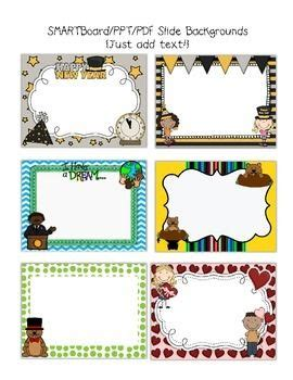 Smartboard And Powerpoint Background Templates Monthly Holidays Background Templates Free Smartboard Templates