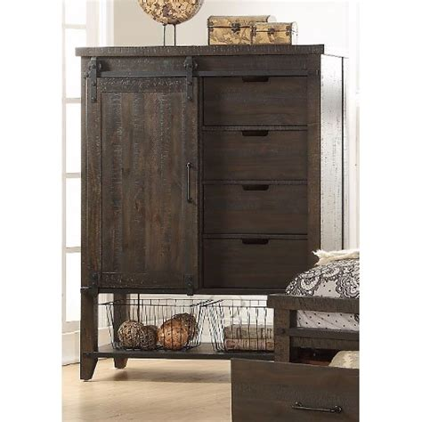 rustic contemporary brown gentlemans chest montana rc
