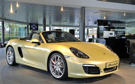 porsche showroom leaner and greener porsche boxster now on the road