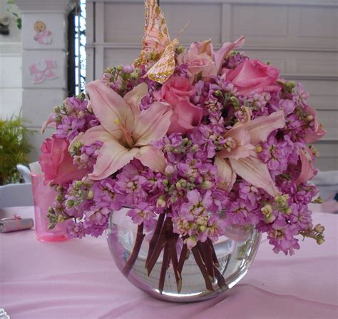floreros baby shower centro de mesa del baby shower de mi reina bello