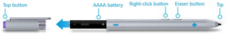 surface pen 3 battery microsoft surface pen for surface pro 3 and surface 3