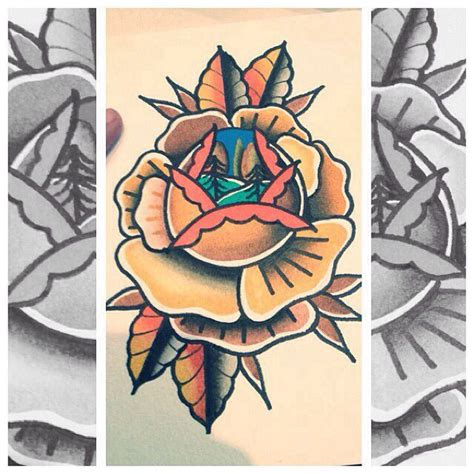 traditional rose tattoo flash traditional flash there s a