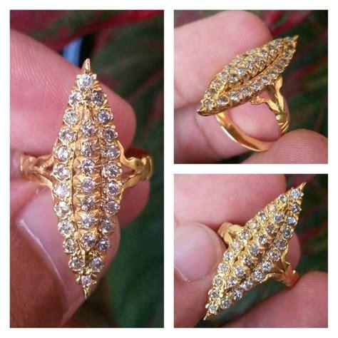 Cincin Emas Berlian 027 Carat Fashion Wanita jual cincin emas berlian banjar memo permata haliza