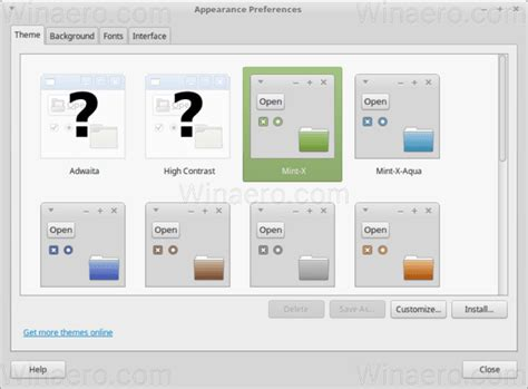 theme changer line mint change individual folder icon color in linux mint