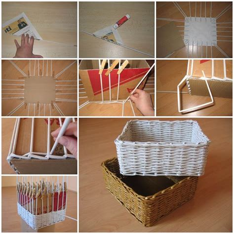 diy storage box ideas diy woven paper storage box