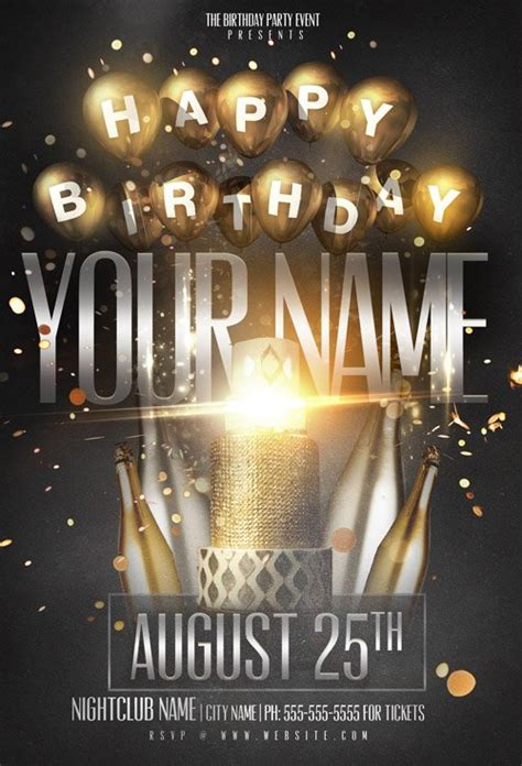 template birthday flyer flyer template psd birthday name party heroturko download