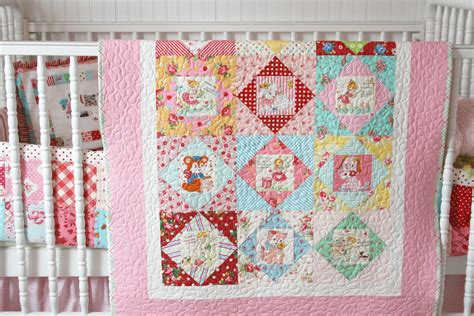 Nursery Quilt by Lovely Handmades Vintage Nursery Quilt