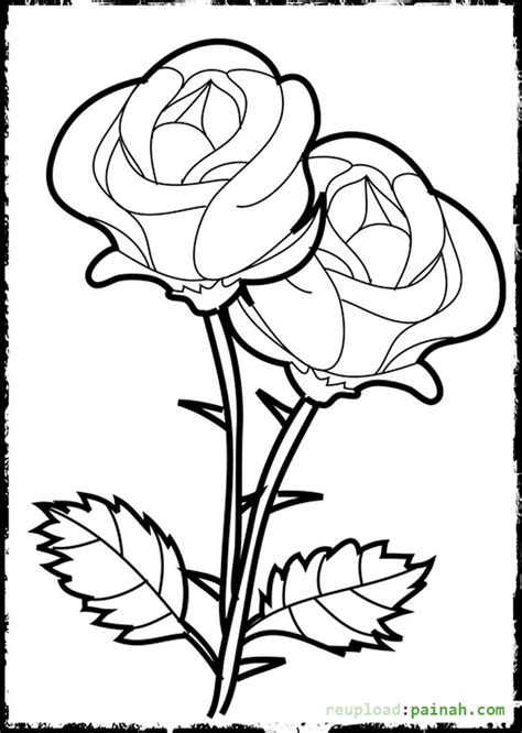 coloring pages of roses to print beautiful rose coloring pages printable coloring pages