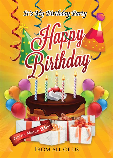 Birthday Flyer Template Photoshop Cs6 Free Flyer Templates Happy Birthday Poster Template