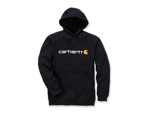 Sweatshirt Workwear Black carhartt signature logo midweight sweatshirt 100074 mammothworkwear