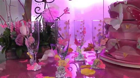 decoracion de salon para 15 años color coral tema mariposas para xv a 241 os dale detalles