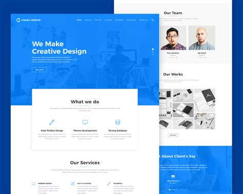 Digital Agency Website Template Psd Download Download Psd Digital Agency Website Templates