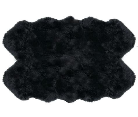 sheepskin rugs 4 pelt auskin premium black ultimate