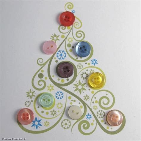 button christmas tree draw paint print pinterest