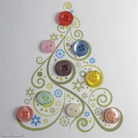 button christmas tree draw paint print pinterest