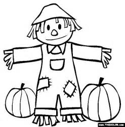 scarecrow coloring pages fall scarecrow and pumpkins coloring page coloring book
