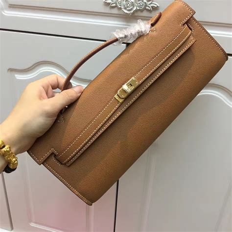 Hermes Cut Clutch Epsom Leather Mirror Quality hermes cut 31cm epsom leather clutch brown 189 00
