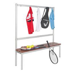 changing room benches with hooks gopak enviro changing room benches 5 aluminium hooks