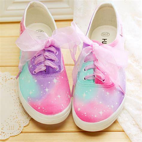 kawaii shoes harajuku rainbow canvas shoes 183 kawaii harajuku