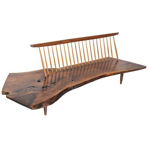 nakashima bench george nakashima conoid bench at 1stdibs