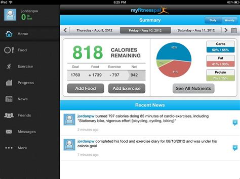 calorie counter app android best free app of the week calorie counter and diet tracker by myfitnesspal hd insight