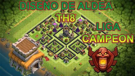 clash of clans ayuntamiento de aldea 8 dise 209 o de aldea ayuntamiento 8 th8 dise 209 o perfecto