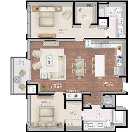 4 unit condo plans