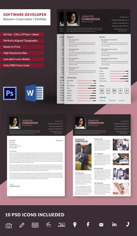 software developer resume template php developer resume template 7 free word excel pdf