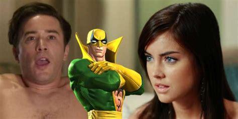 Marvel's Iron Fist Casts Jessica Stroup & Tom Pelphrey Iron Man 3 Logo Png