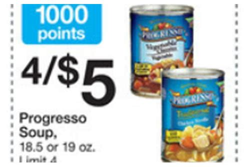 progresso soup coupon insert