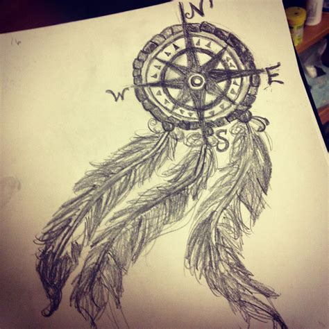 dreamcatcher tattoo drawing my compass dream catcher drawing my drawings