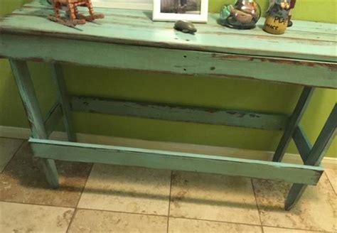 diy entryway table plans diy distressed pallet entryway table pallet furniture plans