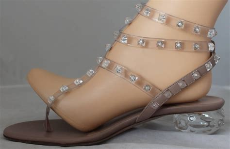 acrylic sandals valentino clear plastic strappy rock stud sandals with